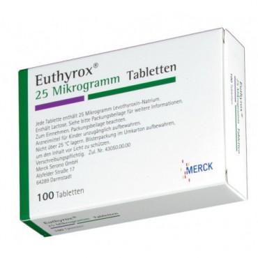 Купить Эутирокс EUTHYROX 25 - 100 Шт в Москве