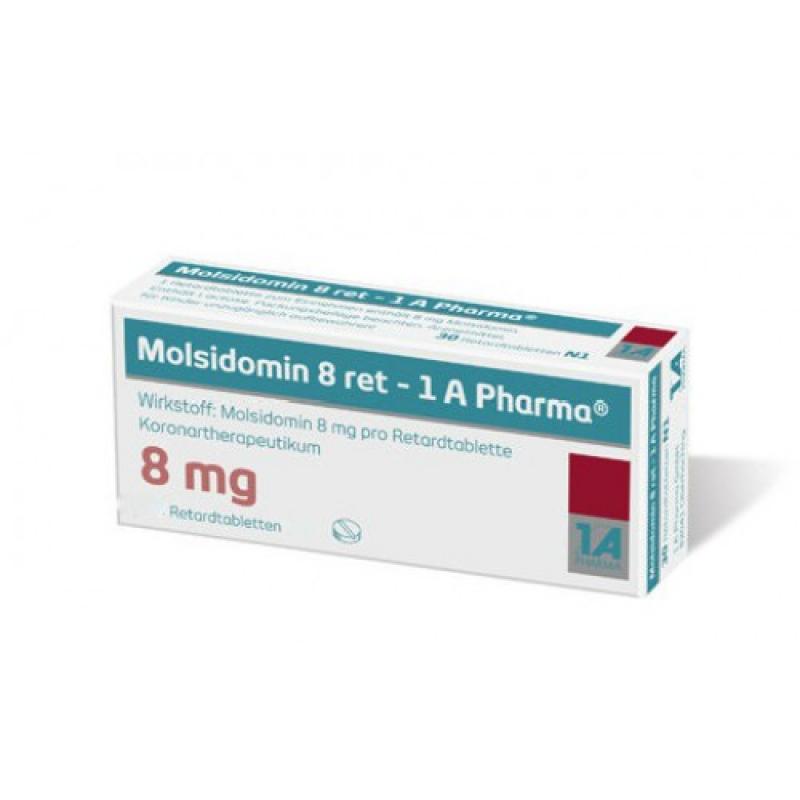 Молсидомин MOLSIDOMIN 8Mg - 100 Шт