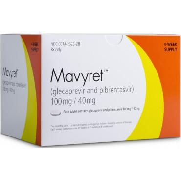 Купить Мавирет MAVIRET 100MG/40MG - 4*21 Шт в Москве
