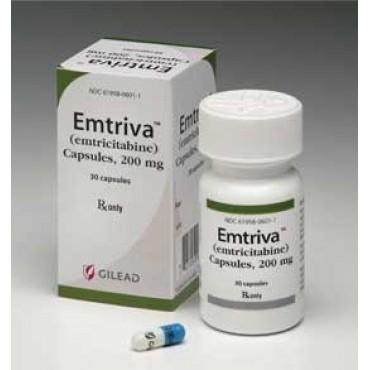 Купить Эмтрива Emtriva (Эмтрицитабин) 200 мг/30 капсул в Москве