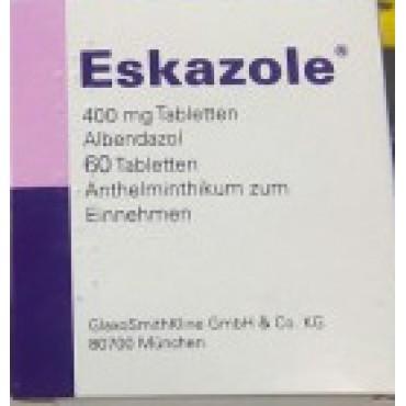 Купить Эсказол (Альбендазол) Eskazole 400 мг/60 таблеток в Москве
