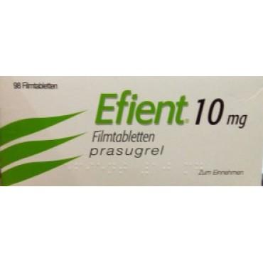 Купить Эффиент Efient(Прасугрель) 10 мг/98 таблеток в Москве