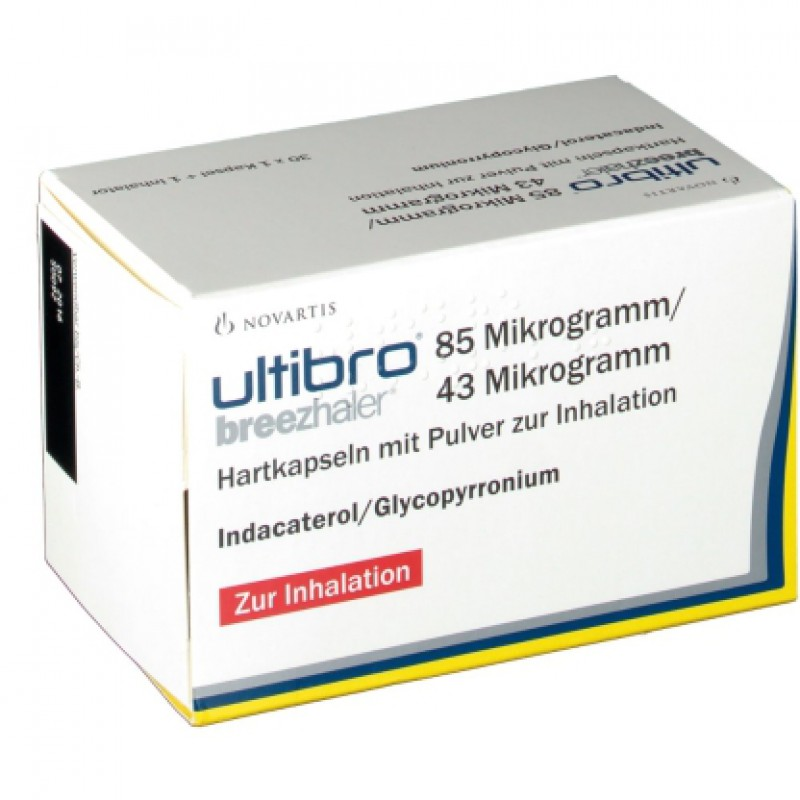 Ультибро Ultibro Breezhaler 85UG/43 3X30 шт