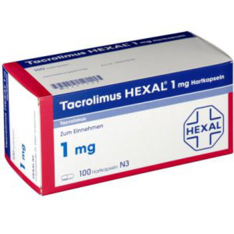 Такролимус Tacrolimus HEXAL 1MG/100 шт